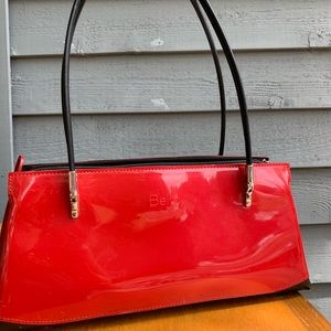 Shiny patent leather candy apple red Beijo handbag